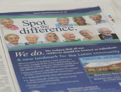 Care Home Marketing | Print Advertising